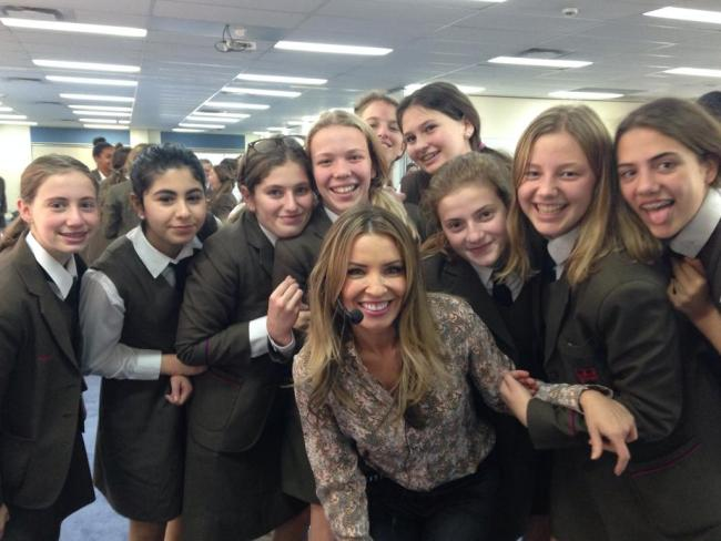 Mel Thomas with some of her school students. Photo: Supplied