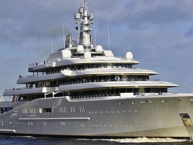 Russian billionaire oligarch Roman Abramovich's super yacht Eclipse.