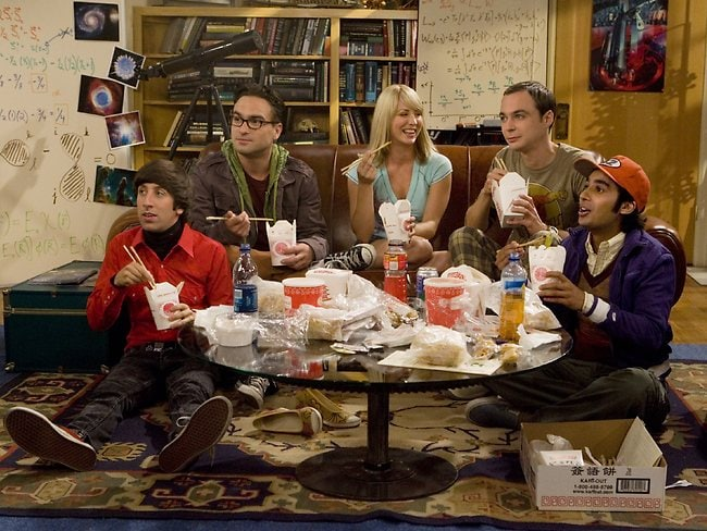 Johny Galecki and cast members from TV show The Big Bang Theory.