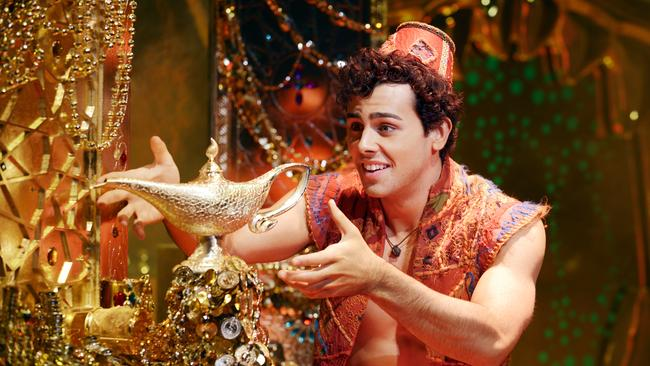 Disney Theatrical Productions under the direction of Thomas Schumacher presents  <i>Aladdin</i>.