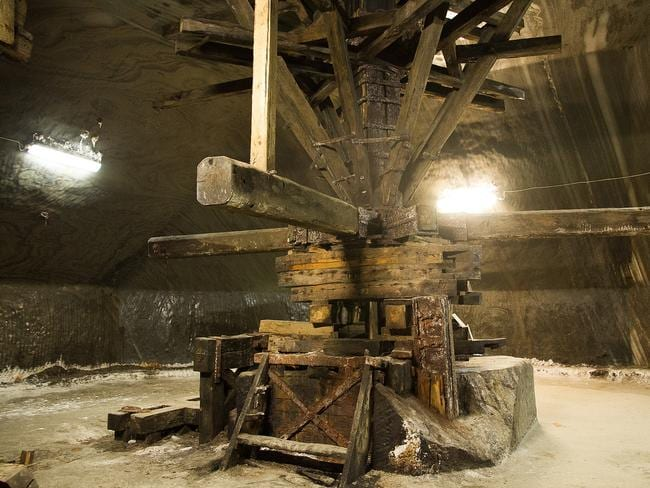 See the old equipment of one of the world's largest salt mines. Picture: Cristiana Bardeanu.