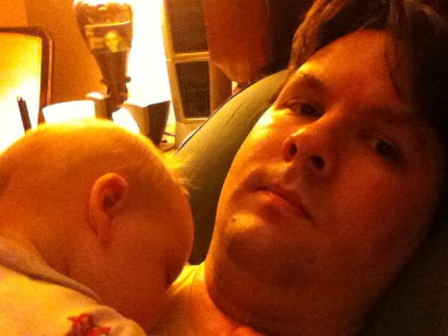 Adored his only child ... Ross Harris with 22-month-old Cooper. Picture: Facebook
