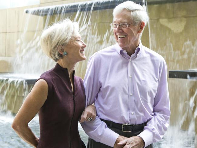 Charles and Liz Koch at Koch Headquarters in Wichita, Kansas.