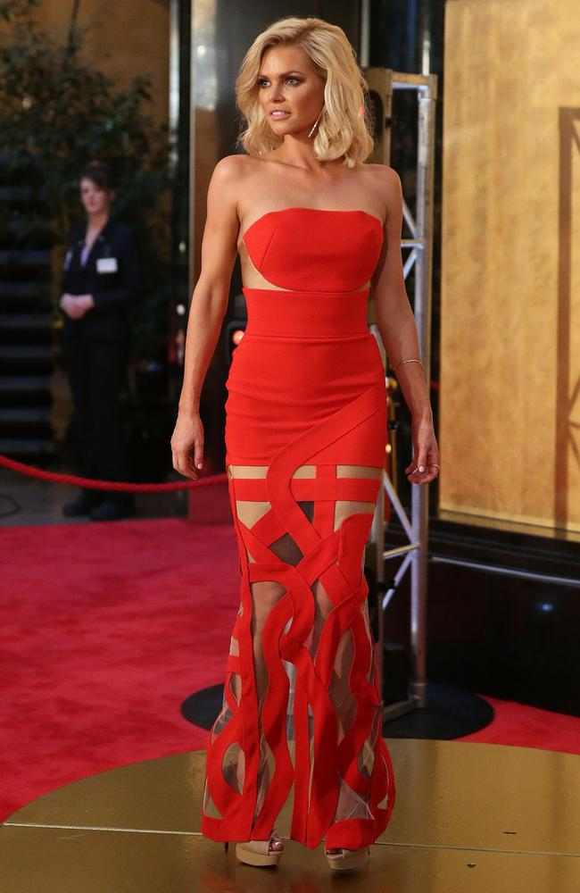 Sophie Monk arrives at the 59th Annual Logie Awards in Melbourne.