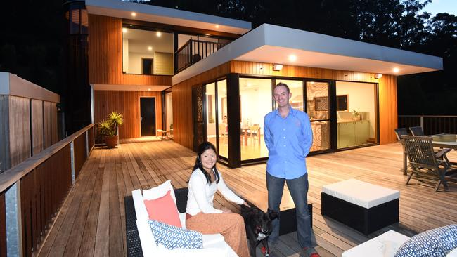 "Hanako and Andy Goy run Melbourne's best performing ""private room"" listing on Airbnb. Picture: Lawrence Pinder"