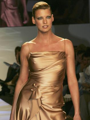 On the catwalk in Australia in 2004. Picture: Patrick Riviere/Getty Images