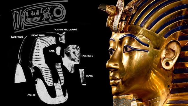The faceplate of the famous gold mask may be all that really belongs to Tutankhamun.