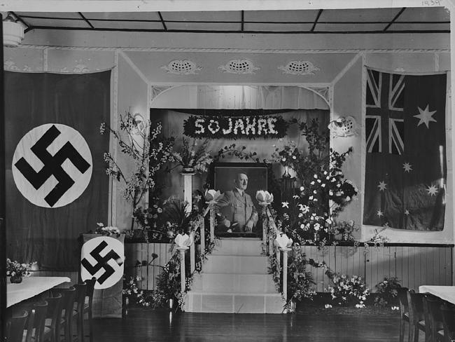 A celebration of Adolf Hitler's 50th birthday, from a book ''Germans: Travellers, Settlers and Their Descendants in South Australia''.