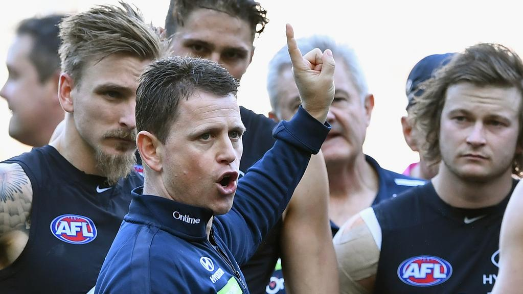 Brendon Bolton got Carlton off to a flying start in his first year at the Blues. Picture: Getty Images