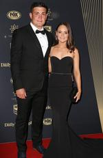 Chris and Sonya Heighington at the 2017 Dally M Awards held at The Star in Pyrmont. Picture: Christian Gilles