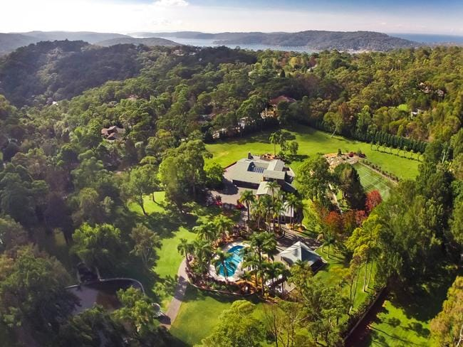 Kookaburra from the air, an exceptional estate in Bayview hidden behind security gates.