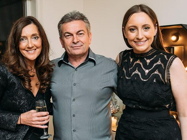 Unsolved murder: Karen Ristevski with her husband Borce Ristevski and their daughter Sarah (right). Picture: Supplied