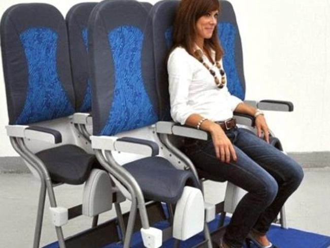 The SkyRider has a saddle-like seat that took up a fraction of the space of a conventional cabin seat.