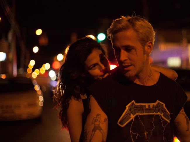 On-again-off-again ... Eva Mendes and Ryan Gosling in a scene from the film 'The Place Beyond the Pines'.