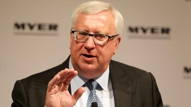 Myer Executive Chairman Garry Hounsell has flagged price as an area where the department store failed. Picture: The Australian.