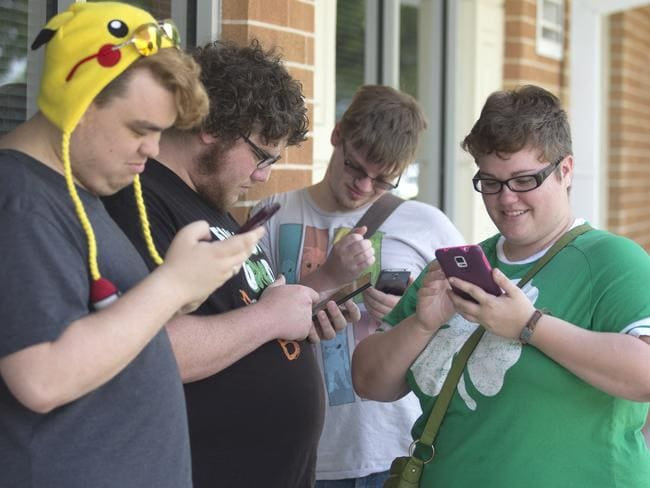 Florida students on campus in Panama City getting right into Pokemon Go. (Patti Blake/News Herald via AP)