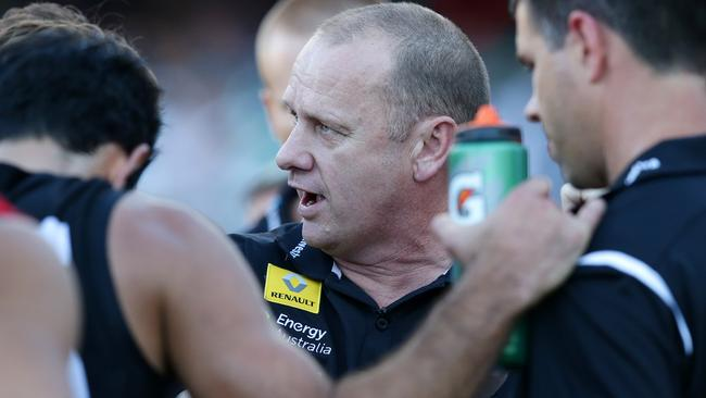 Ken Hinkley has lead Port Adelaide to an amazing resurgence. Picture: SARAH REED.