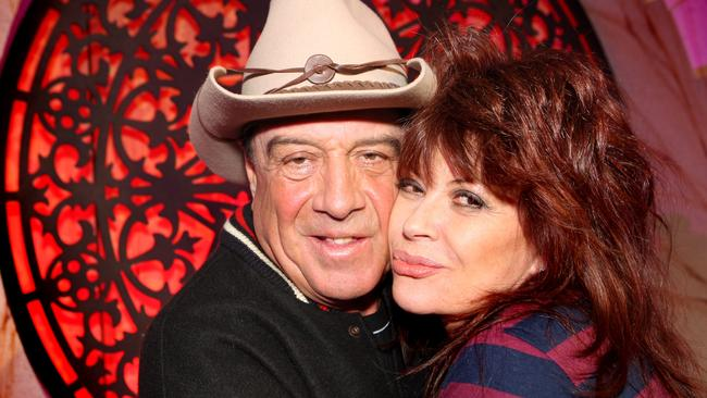 Molly Meldrum with Chrissy Amphlett. Picture: Bruce Magilton