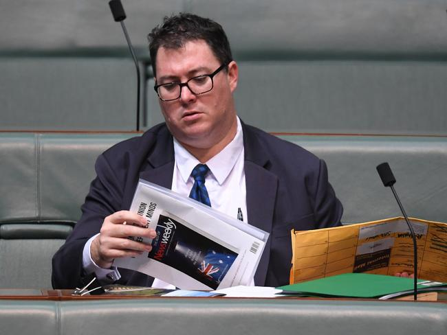 George Christensen says he will cross the floor on a banking inquiry.