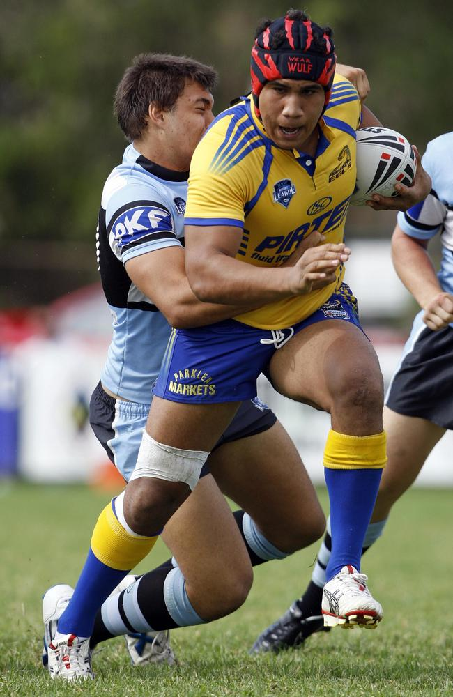 Parramatta prop Peni Terepo in action during his SG Ball days.
