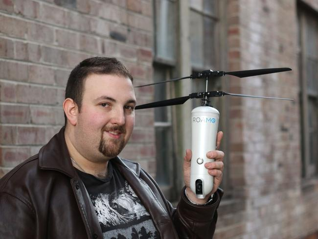 IoT Group executive director Simon Kantor created the selfie drone, ROAM-e, after talking to a friend about how to improve the selfie stick.