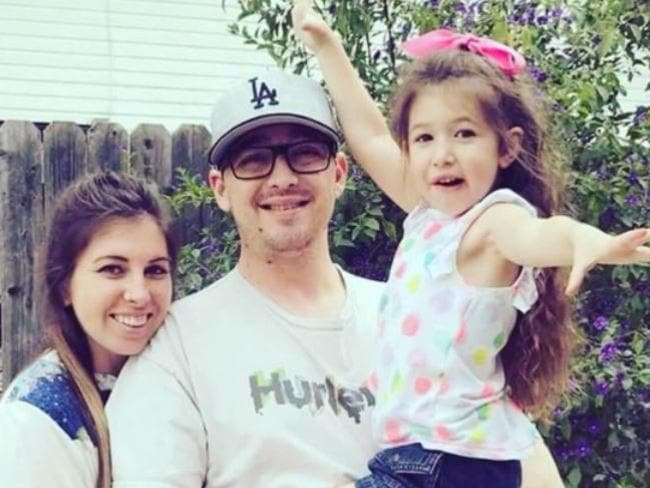 Anthony Mele was stabbed in the neck as his five-year-old daughter sat in his lap.