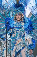 Daniela Torres, Miss Nicaragua 2015 debuts her National Costume on stage at the 2015 Miss Universe Pagaent on December 16, 2015 in Las Vegas. Picture: HO/The Miss Universe Organization
