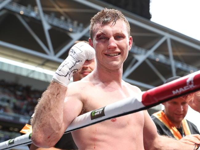 Jeff Horn at Suncorp Stadium. Pic Peter Wallis