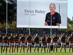 Showdown XXIV - A minute's silence for former Crows and Power assistant coach Dean Bailey. Picture: Simon Cross