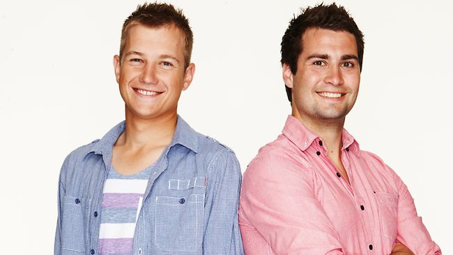Sticky & Sam: Flatmates who compete in just about everything - no mean feat given Sticky was born without a left forearm. Picture: Channel 7