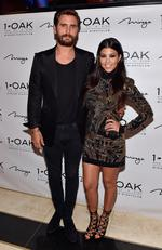 Scott Disick and Kourtney Kardashian arrive at his birthday celebration at 1 OAK Nightclub on May 23, 2015 in Las Vegas. Picture: Getty