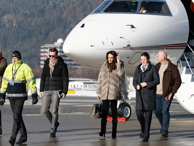 Tamara Ecclestone arrives in Austria by private jet. Picture: Andreas Rentz/Getty Images.