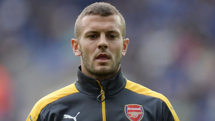 Arsenal's English midfielder Jack Wilshere warms up before the English Premier League football match between Leicester City and Arsenal at King Power Stadium in Leicester, central England on August 20, 2016. / AFP PHOTO / OLI SCARFF / RESTRICTED TO EDITORIAL USE. No use with unauthorized audio, video, data, fixture lists, club/league logos or 'live' services. Online in-match use limited to 75 images, no video emulation. No use in betting, games or single club/league/player publications. /