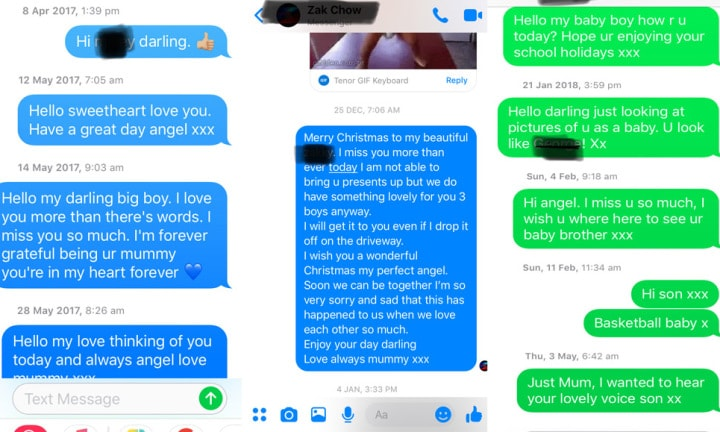 Alienated parents share unanswered texts to their kids and it's crushing