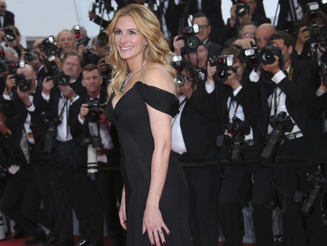 Photographers can't get enough of Julia Roberts. Picture: AP