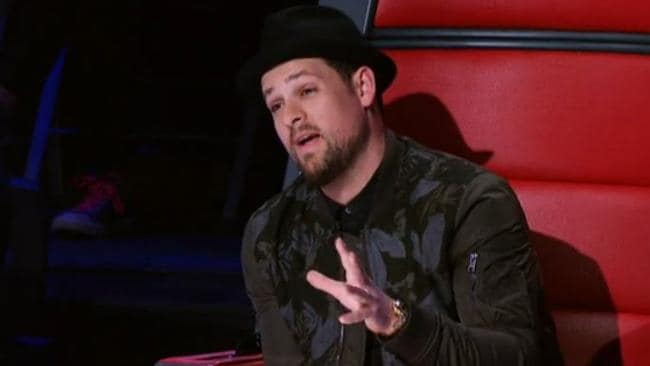 Making his choice ... Voice coach Joel Madden.