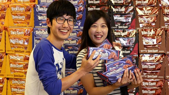 Tim Tams may be owned by the Americans but they are still manufactured locally. Picture: News Limited.