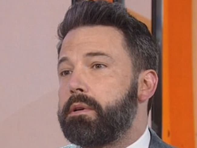 Ben Affleck gets questioned about Rose McGowan ad the Harvey Weinstein sex scandal. Picture: Supplied/Today Show on NBC