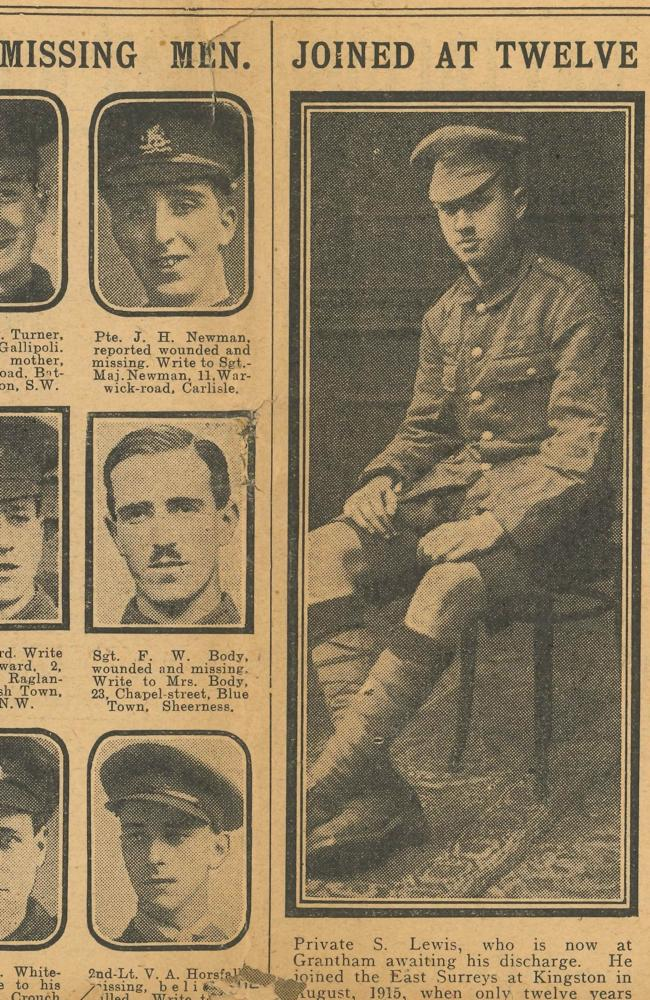 Boy fought in WWI aged just 12