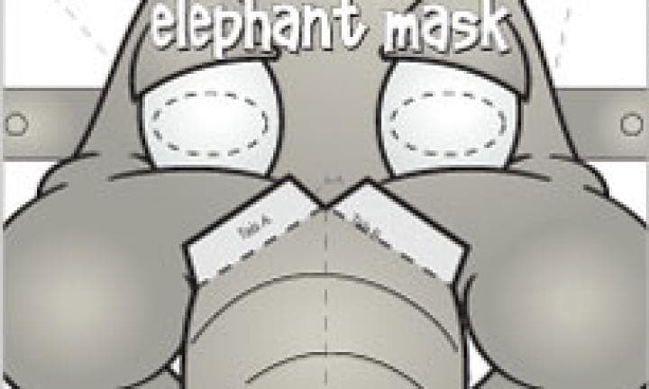 Elephant face mask template