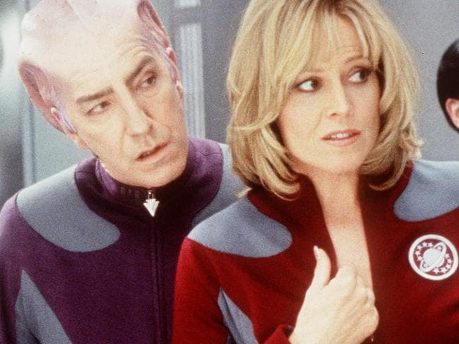 Remembered ... Rickman alongside Sigourney Weaver in Galaxy Quest