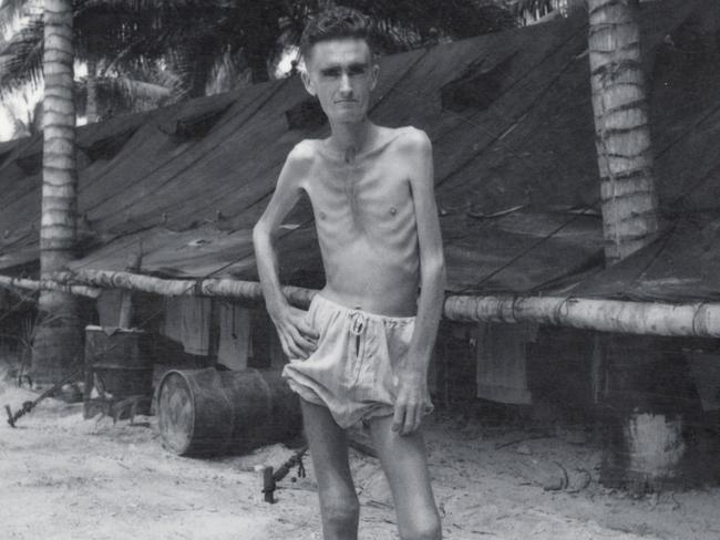 Lest we forget ... an unnamed Australian soldier at a Japanese prisoner-of-war camp. Only five per cent of Australian soldiers survived the prison-of-war camps in Changi, Sandakan and Kuching.