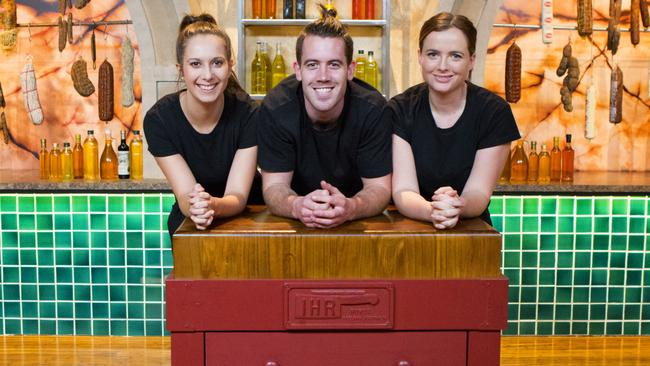 Then there were two ... MasterChef final three Laura Cassai, Brent Owens and Emelia Jackson.