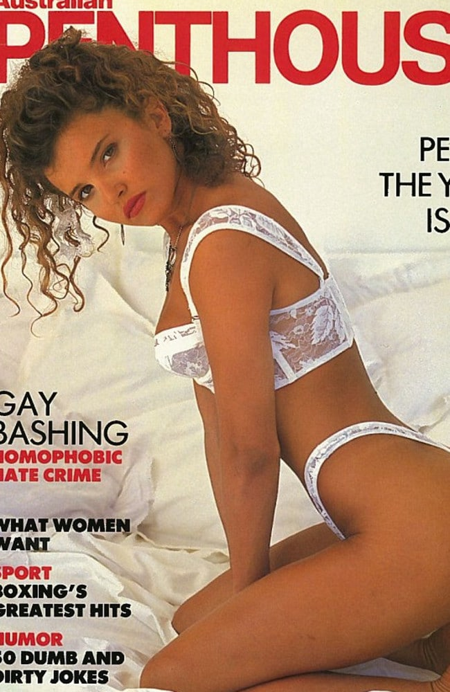 Hot stuff ... The Penthouse cover that caught Michael Hutchence's eye in 1991.