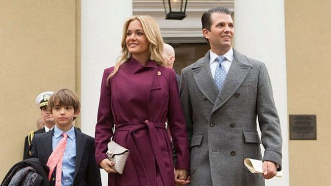 Trump Jr and his wife Vanessa. Image: Getty