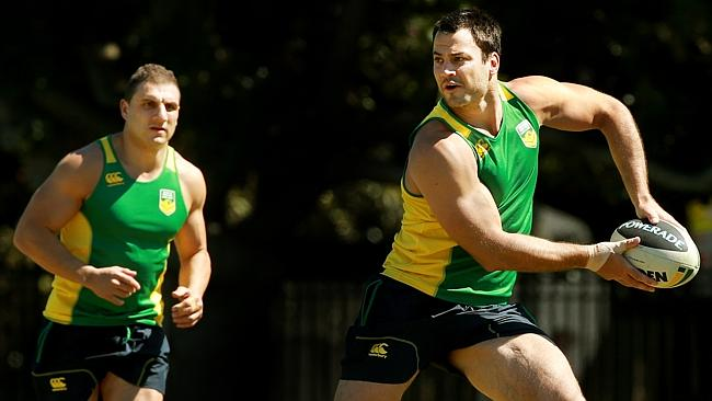 David Shillington trains with the Prime Minister's XIII.