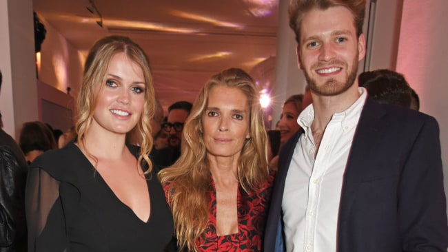 Louis Spencer, Viscount Althorp with his sister Lady Kitty Spencer (left) and mother Victoria Aitken (centre) in June this year. Photo: David M Benett/Dave Benett/Getty Images for Michael Kors