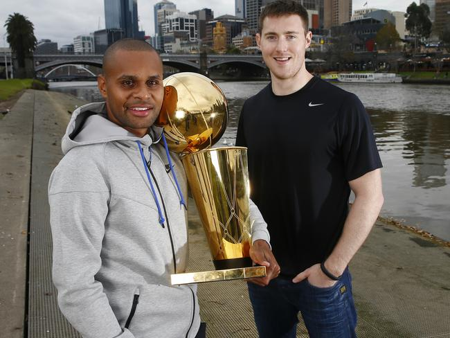 """Patty Mills and Aron Baynes have long been looking forward to bringing """"Larry"""" out to Australia."""