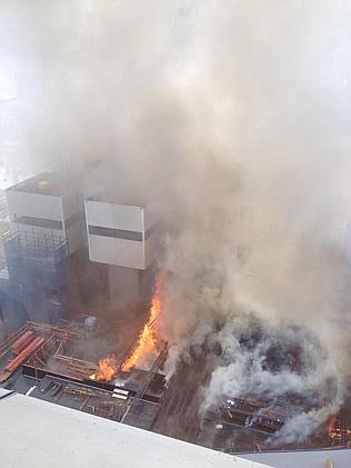 Underground fire at Barangaroo work site, some people unaccounted for.