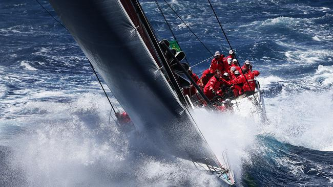 Wild Oats XI during last year's Sydney to Hobart. Pic Brett Costello
